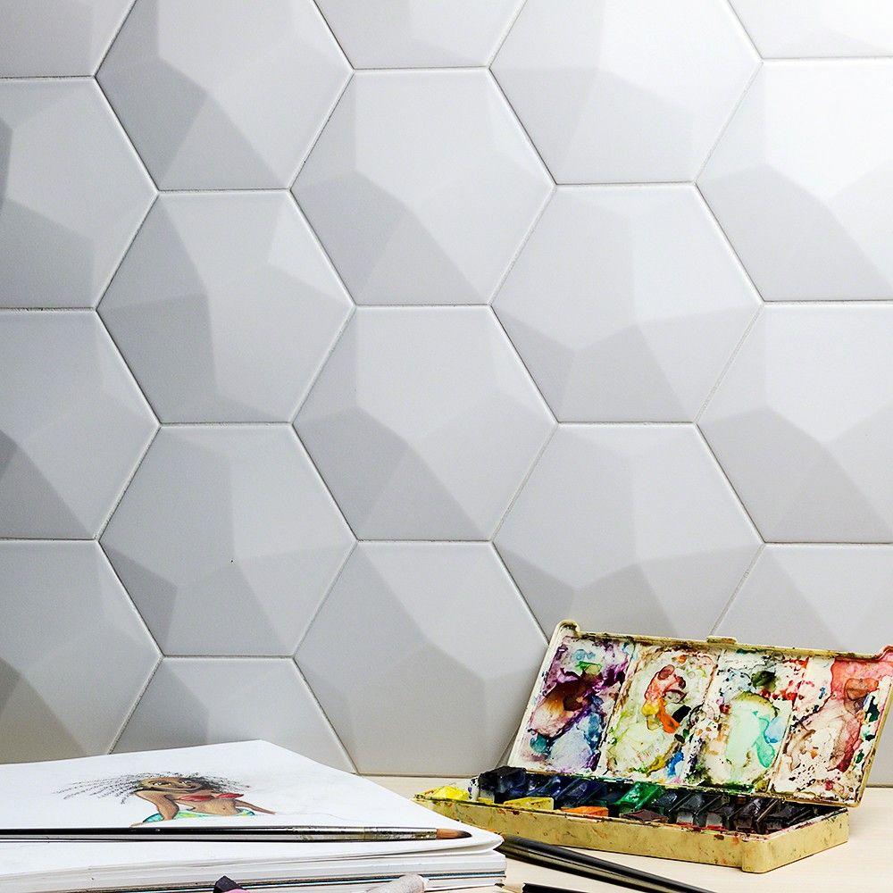 Exagoni Dimension Perla Matte Hexagon Ceramic Tile | interiors ...