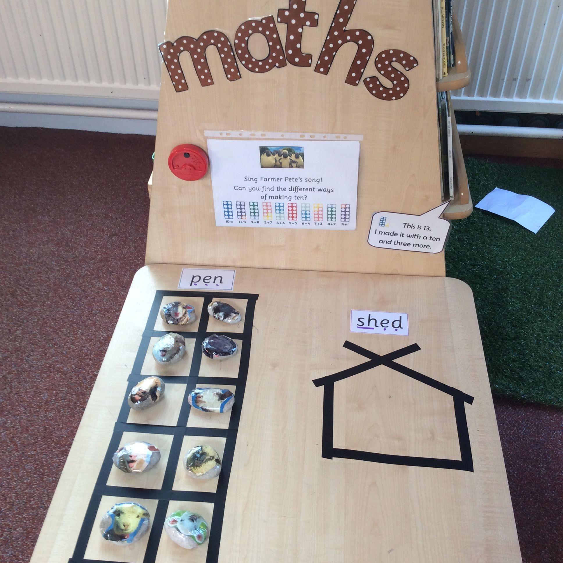 Maths Challenge Eyfs Bonds To Ten Ten Frame Farmer Pete