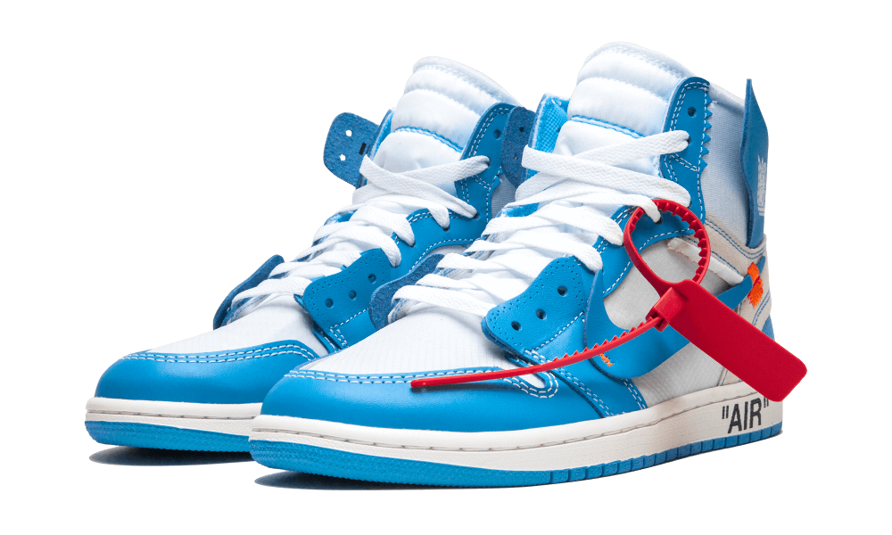 Air Jordan 1 Retro High Off White Unc Aq0818 148 In 2020 Air Jordans Best Sneakers Jordan 1 Blue