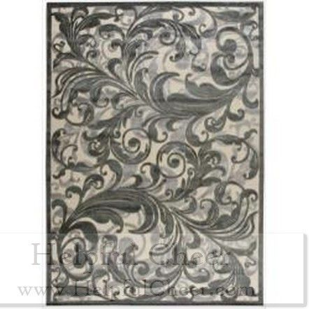 Nourison Graphic Illusions Black Swirl Multi Transitonal Rug 5 x27 3 x 7 x27 5 - at