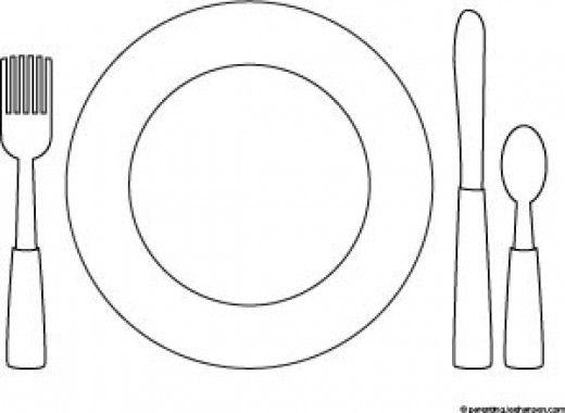 preschool printable dinner table