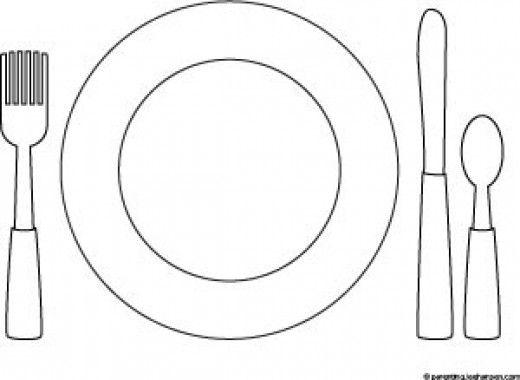 Preschool Printable Dinner Table