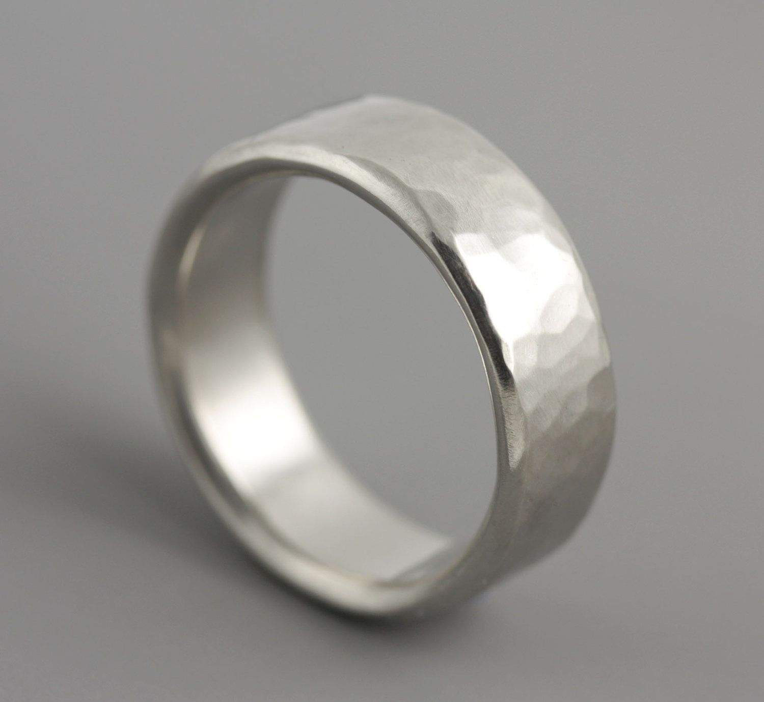 mens hammered silver wedding bands wedding men s ring