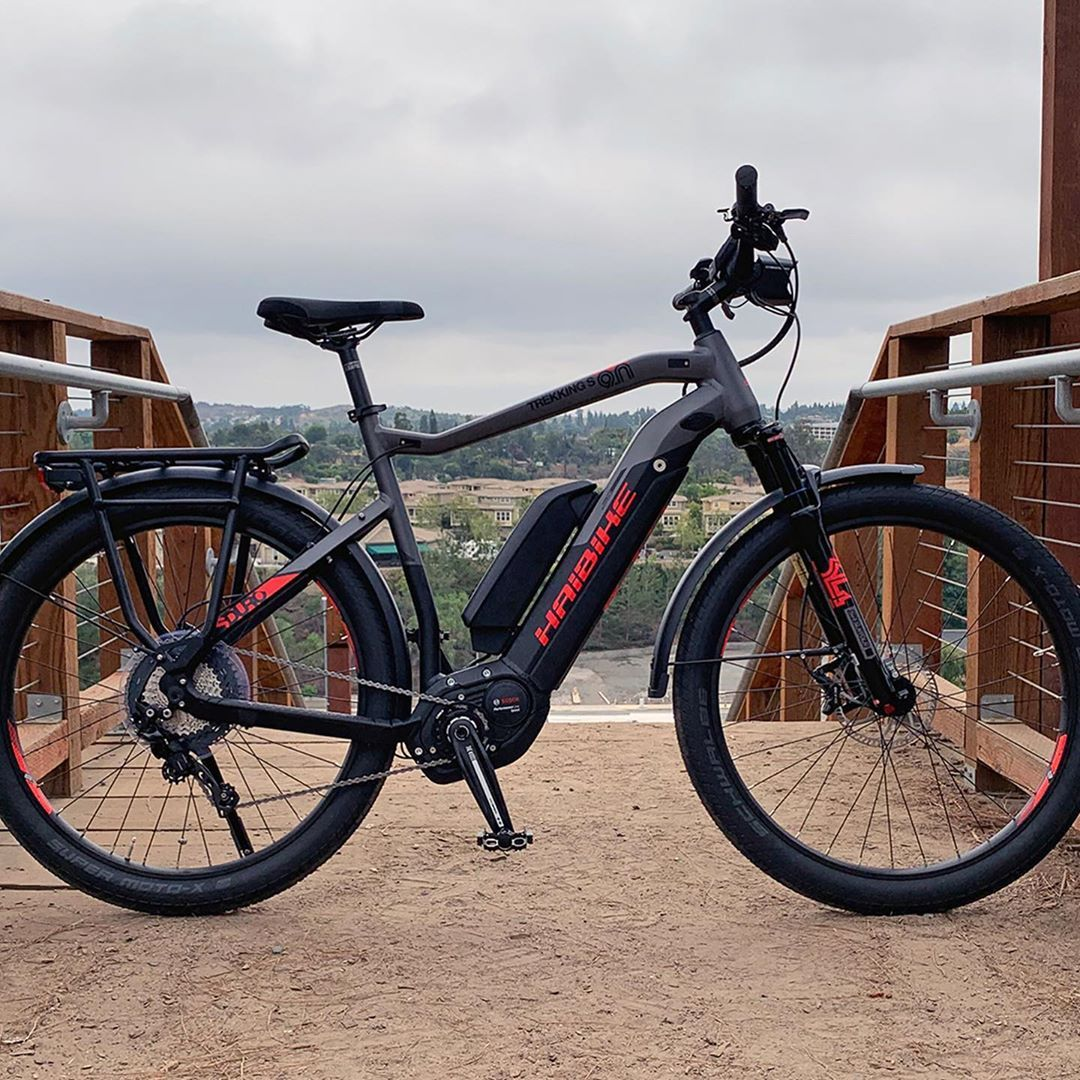 Haibike Sduro Trekking S 9 0 2019 Built Around A Lightweight Aluminum Frame With A Comfortable And Upright Riding Electric Bike Electric Bike Review Trekking