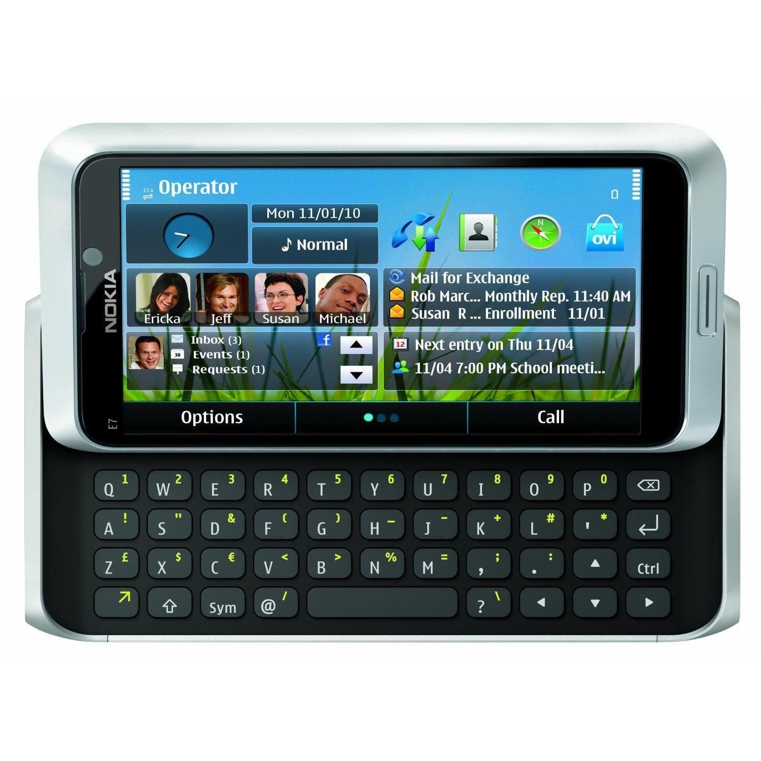 nokia with keyboard. nokia e7 e7-00 16gb unlocked gsm touch slide-out keyboard phone with 8mp