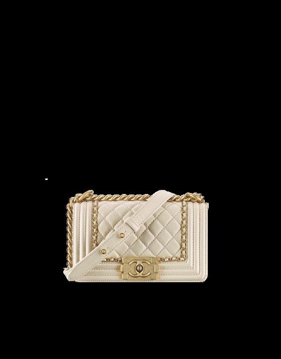 db3a30360 Chanel White Aged Calfskin Boy Chanel Jacket Small Bag