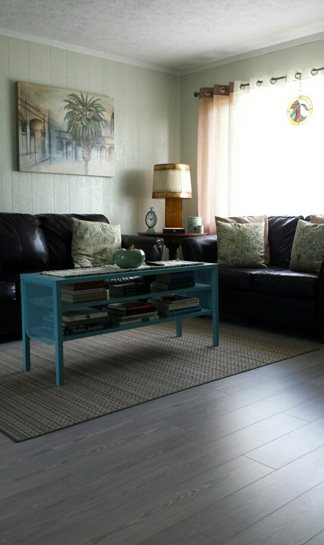 Pergo Willow Lake Pine Flooring In Coastal Style Livingroom