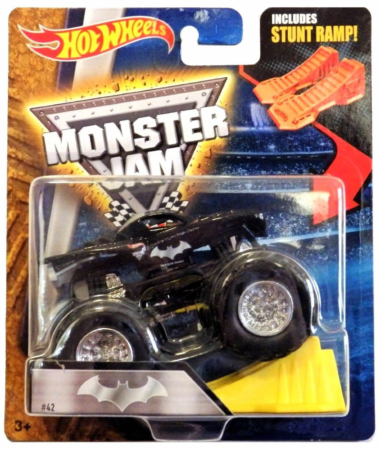 Amazon Com Hot Wheels Monster Jam Batman 42 Includes Stunt Ramp Rare Everything Else Hot Wheels Monster Jam Hot Wheels Monster Jam