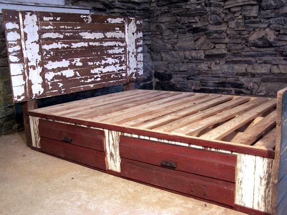 Shabby Chic Barn Door Bed | Pinterest | Door bed, Barn doors and Shabby