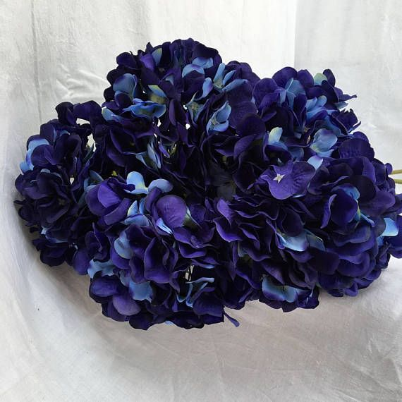 Navy Blue Flowers Silk Hydrangea Navy Blue Wedding Etsy Wedding Table Flowers Blue Wedding Centerpieces Blue Hydrangea Centerpieces