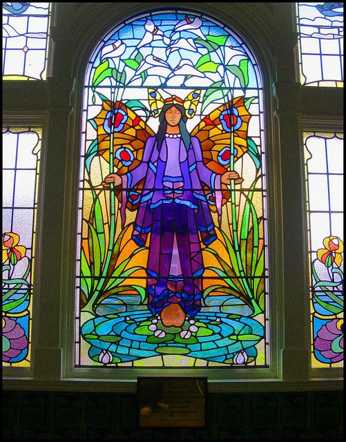 Victoria Baths, Manchester - Multi-coloured Art Nouveau Stained Glass | Flickr - Photo Sharing!