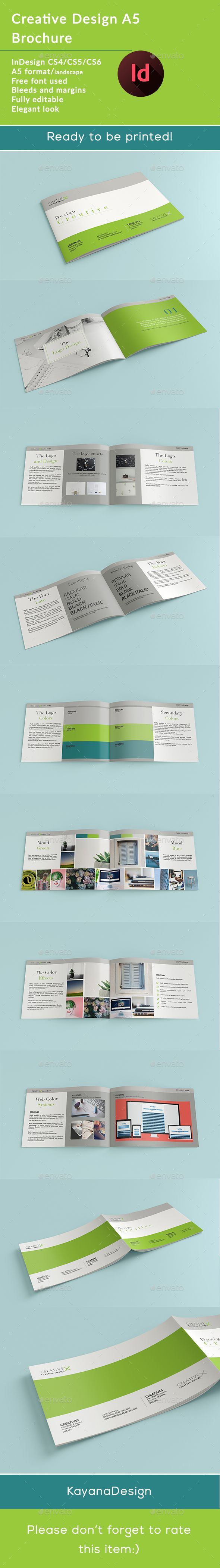 Creative Design X A Horizontal Brochure Brochures Print - Horizontal brochure template
