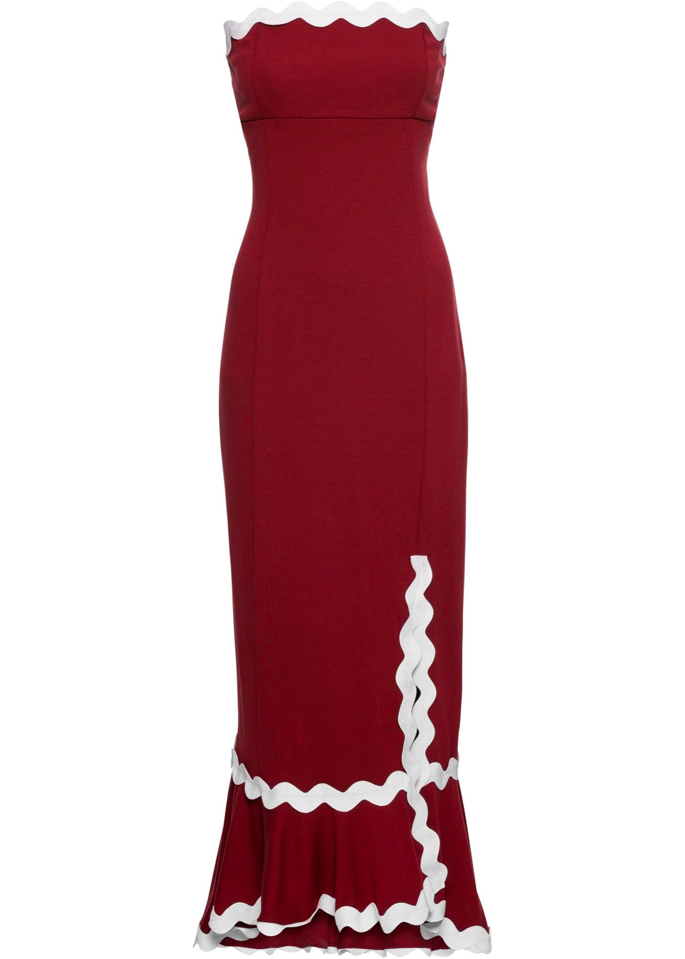 Bandeau-Kleid mit Beinschlitz  Coole kleider, Bandeau kleid und