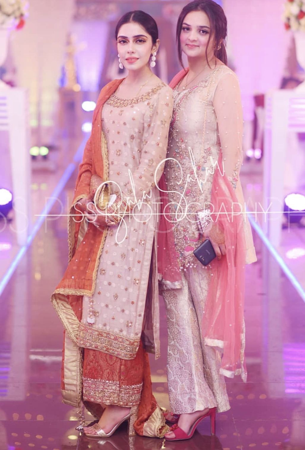Grooms sister and cousin Wedding guest pants, Pakistani