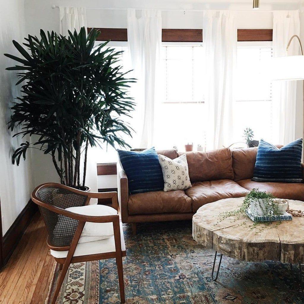 Nirvana Dakota Tan Sofa in 2020   Leather sofa living room ...