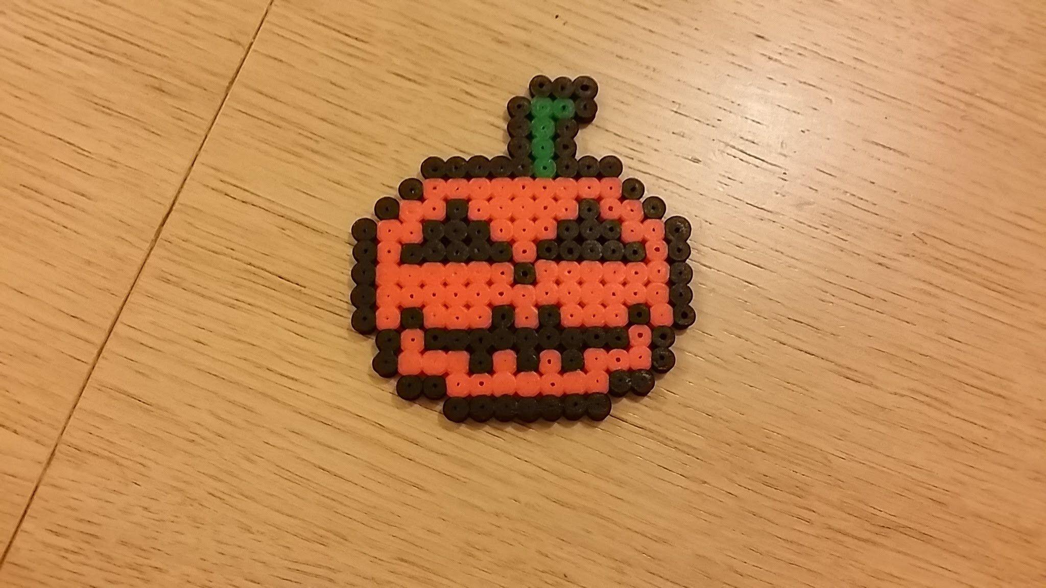Zucca Di Halloween Pyssla.Tutorial Zucca Di Halloween In Pyssla Pyssla