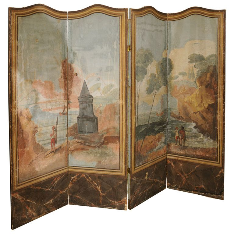 French Painted Screen Pinterest Screens Divider and Room