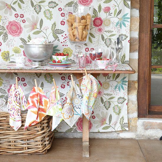 handkerchief bunting decoration country homes and interiors blog