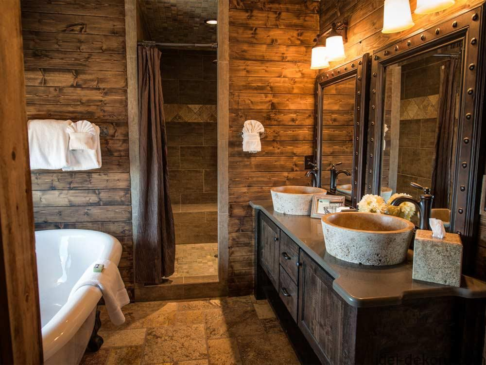 Log Cabin Bathroom Decor Ideas The Bathroom Is Part Of The Home That Time Is Spent By Everyone In Although It Might Not Al