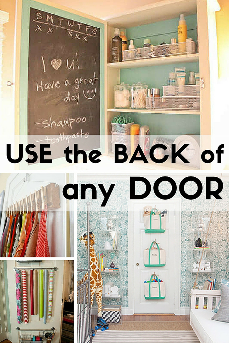 9 Creative Uses For The Back Of Any Door Bedroom Organization Diy Organization Bedroom Diy Space Saving