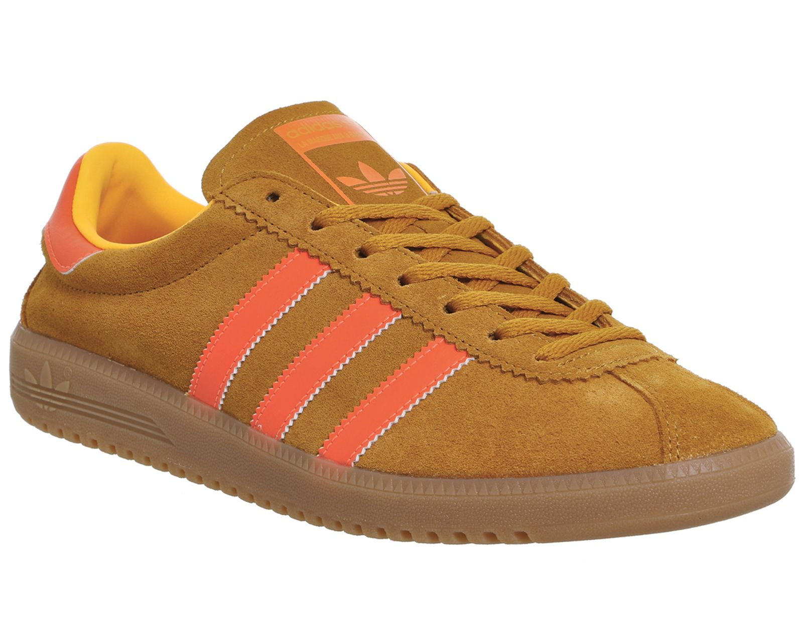 Adidas, Bermuda Trainers, Solar Gold Orange Gum | David
