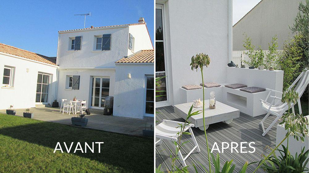 avant apr s moderniser l espace ext rieur d une maison traditionnelle maisons. Black Bedroom Furniture Sets. Home Design Ideas