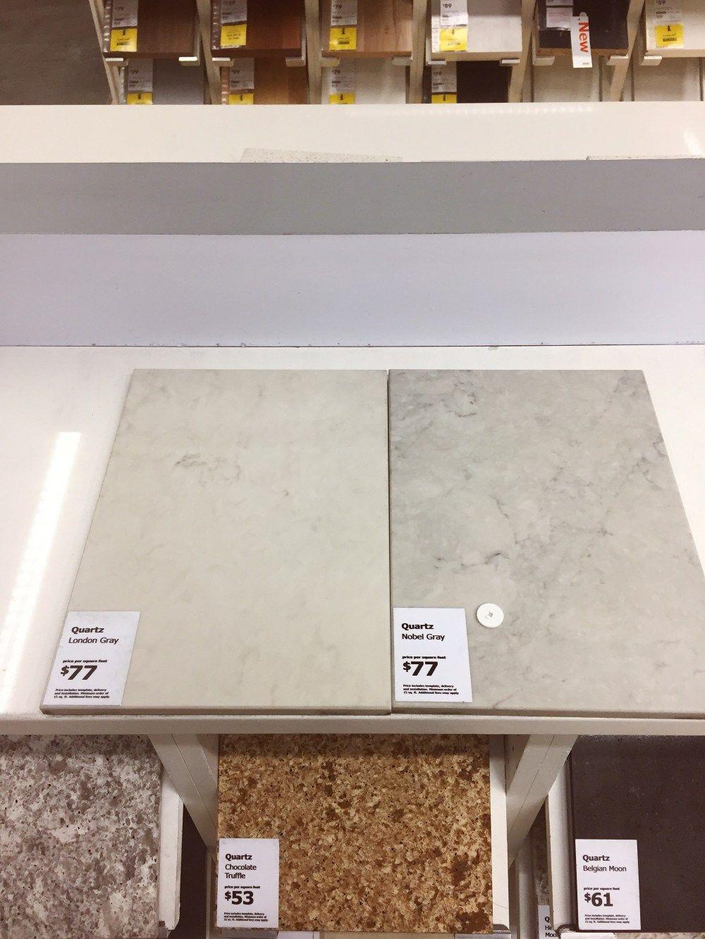 London Grey Vs Nobel Grey Caesarstone Ikea Quartz Countertop