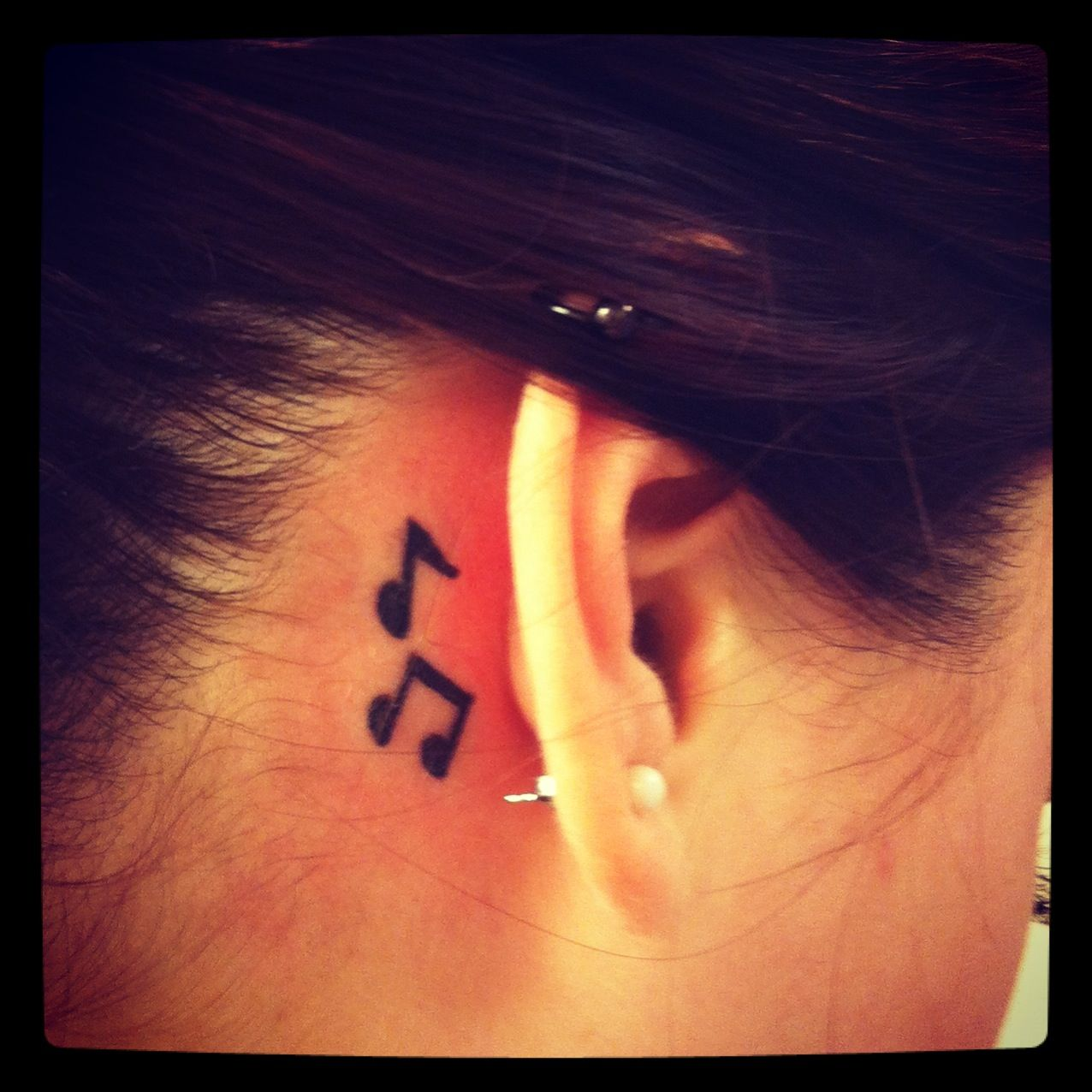 43++ Stunning Music note tattoo behind ear image ideas