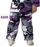 Kids Purple Camouflage Six-Pocket BDU Pants - $18.50 at The Purple Store