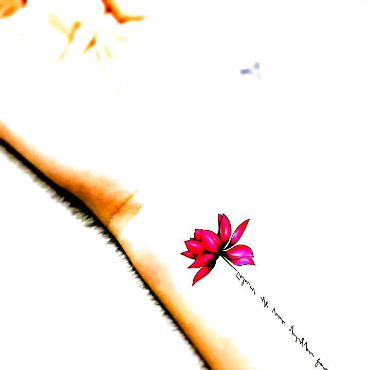 Cute Lotus Wrist Tattoo Ideas Female Watercolor Pink Script Floral Flower Tat - www.MyBodiArt.com #t