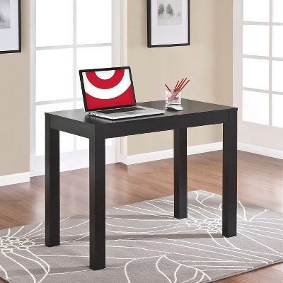 Delilah Parsons Desk With Drawer Black Oak Ameriwood Home