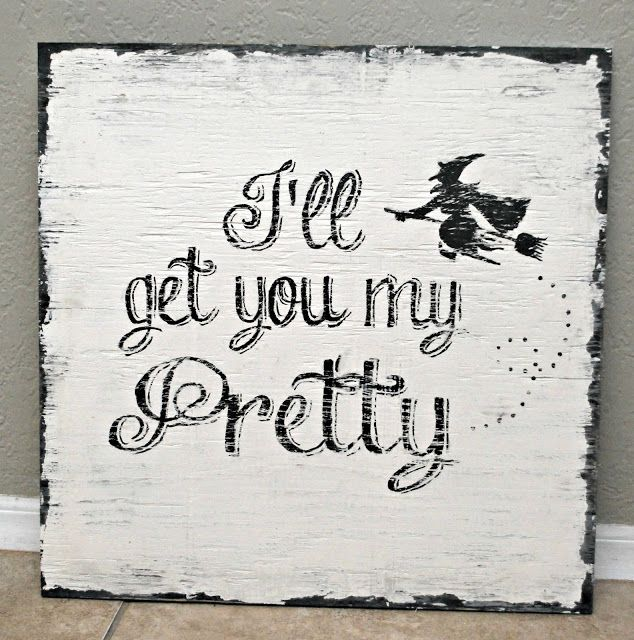 Vintage Painted Signs & a Halloween Sign Giveaway! *Closed*