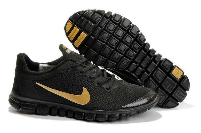 2e66264f955c Nike Free 3.0 V2 Running Shoe Black Gold Men