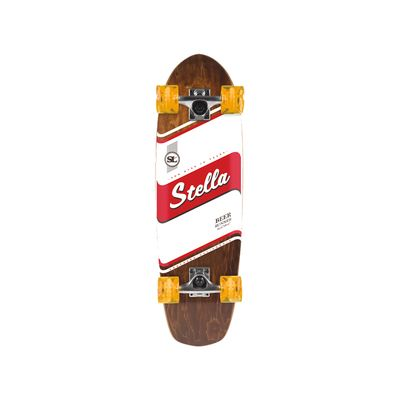 "Stella Stripe Beer Runner Cruiser 29"" Longboard Skateboard"