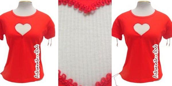 Blusinha Vermelha Coração | Artesanato na Rede