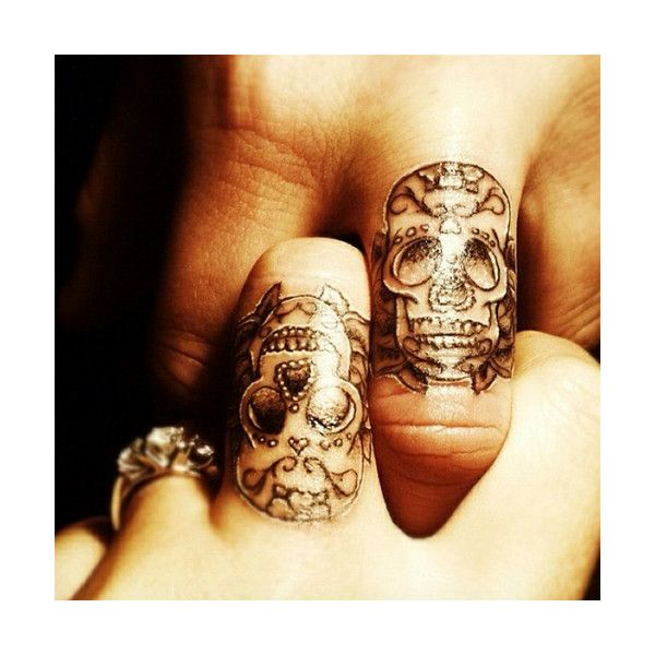 Taturday! Bad Couple Tattoos! ❤ liked on Polyvore featuring accessories, body art and tattoos