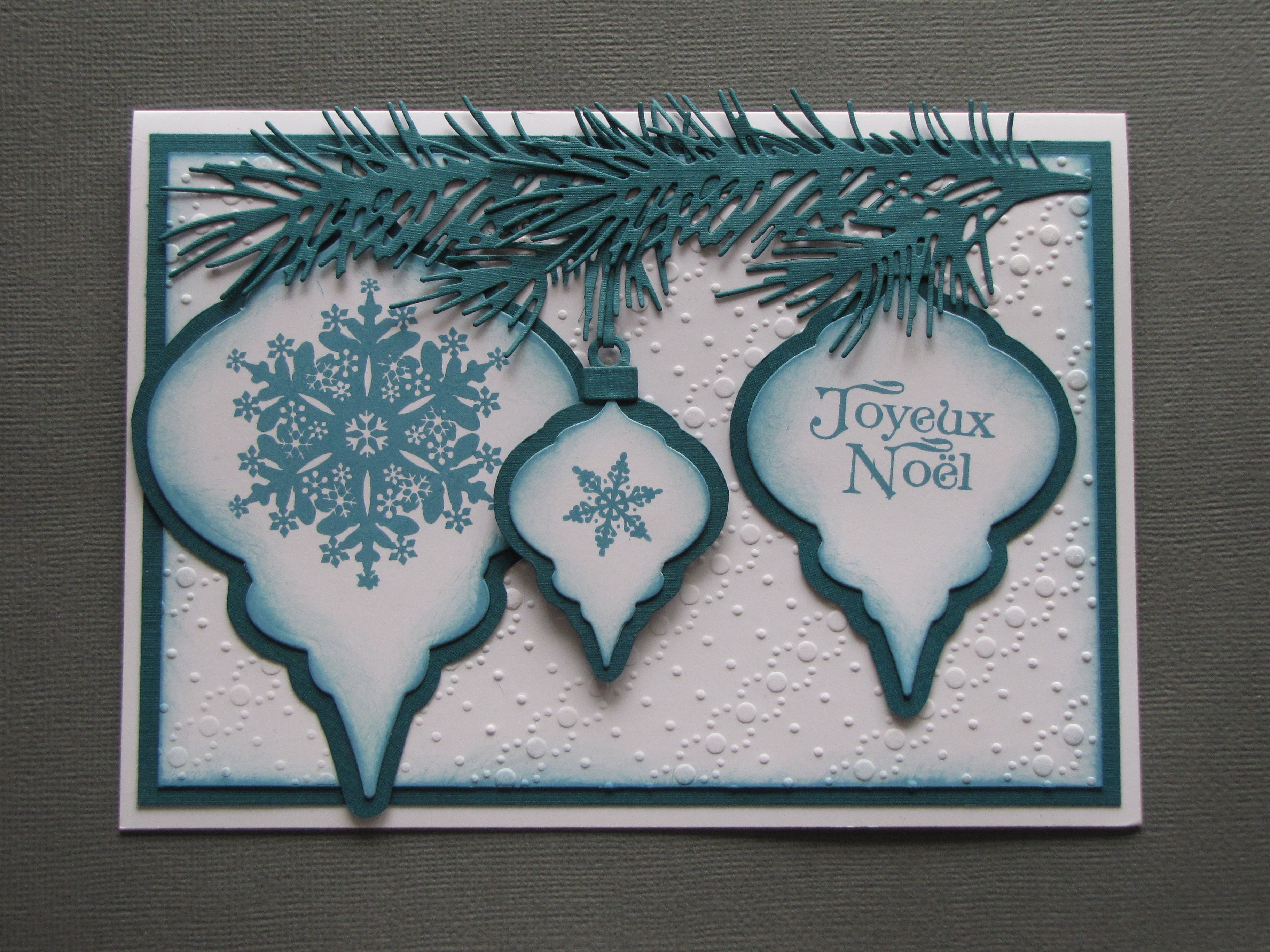 Carte de Noël fait avec Spellbinders Nestabilities Dies 2010