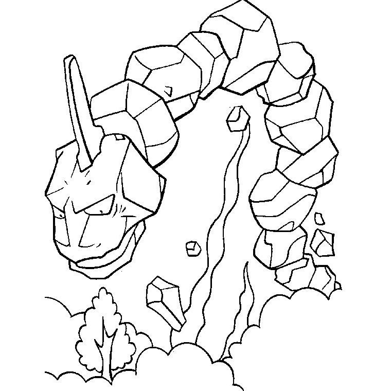 onyx mega evolution coloring pages - photo#2