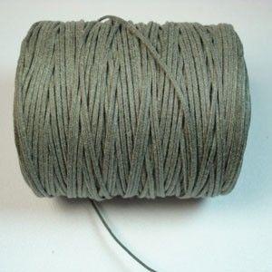 WCC-1SG-B  1mm Stone Grey Supreme Waxed Cotton Cord - 144yd