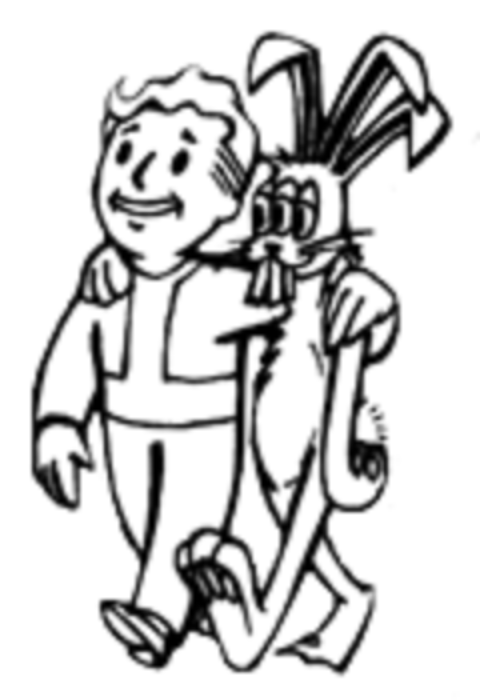 Fallout Vault Boy With A Rabbit