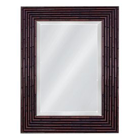 30 x 42 mirror lighted mirror 30in 42in teak rectangular framed mirror lowes not available