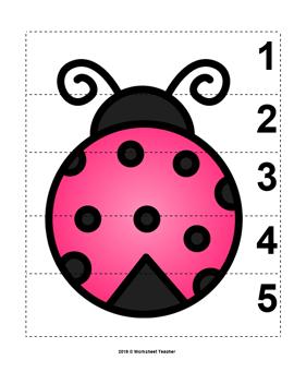 Number sequence 1-10 Puzzle  \u2055Montessori Numeracy \u2055 Numbers \u2055  Puzzle \u2055 Educational Material \u2055 Printable \u2055 Math \u2055