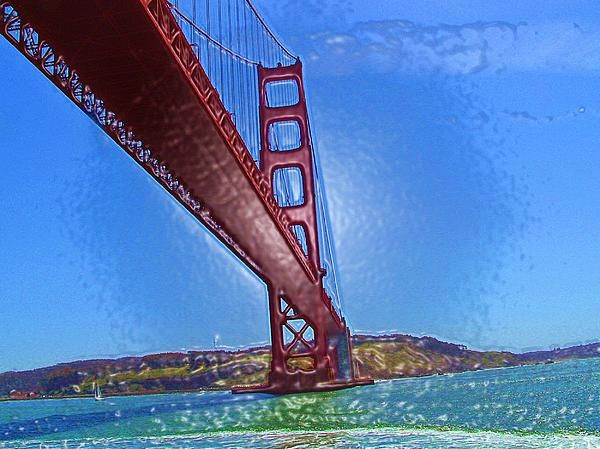 Golden Gate Bridge Abstract