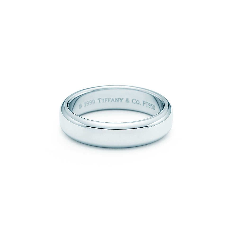 04b0d2e34 Tiffany & Co. - Lucida® wedding band ring in platinum, 4.5mm wide. - For my  hypothetical husband.