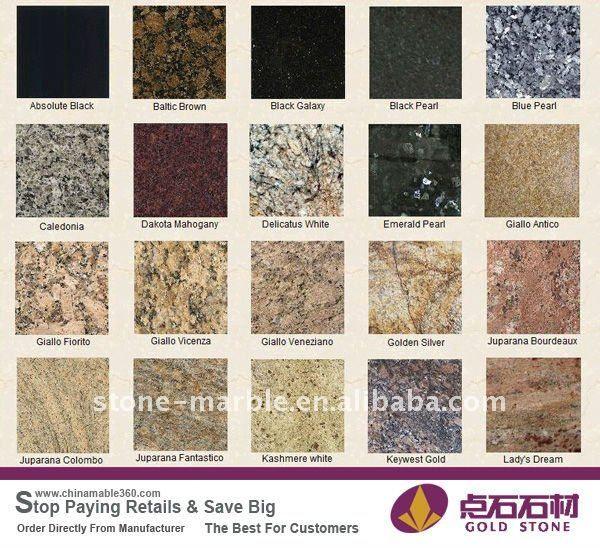 granite countertops colors