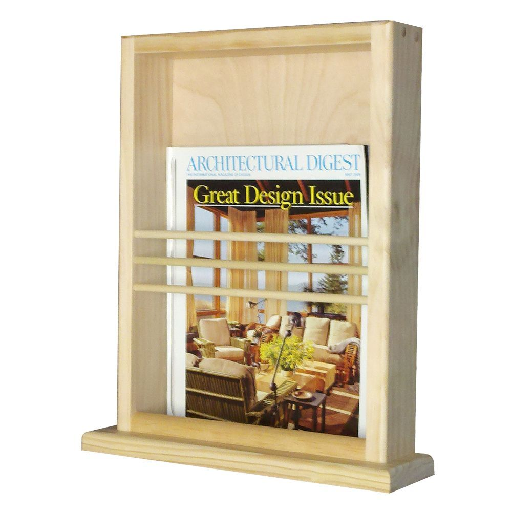 on the wall magazine rack with ledge by wg wood products  products - on the wall magazine rack with ledge by wg wood products