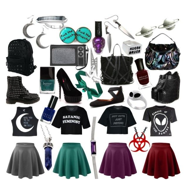 """Skater Skirts"" by ashlynknight ❤ liked on Polyvore featuring LE3NO, Disturbia, Linglady, Dr. Martens, Alexander Wang, Monica Vinader, Gentle Souls, West Coast Wardrobe, Gucci and Retrò"