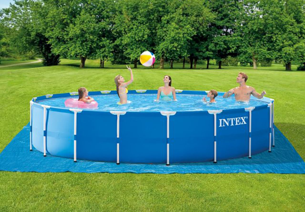 18ft X 48in Metal Frame Pool Set In Ground Pools Intex Above Ground Pools Above Ground Pool