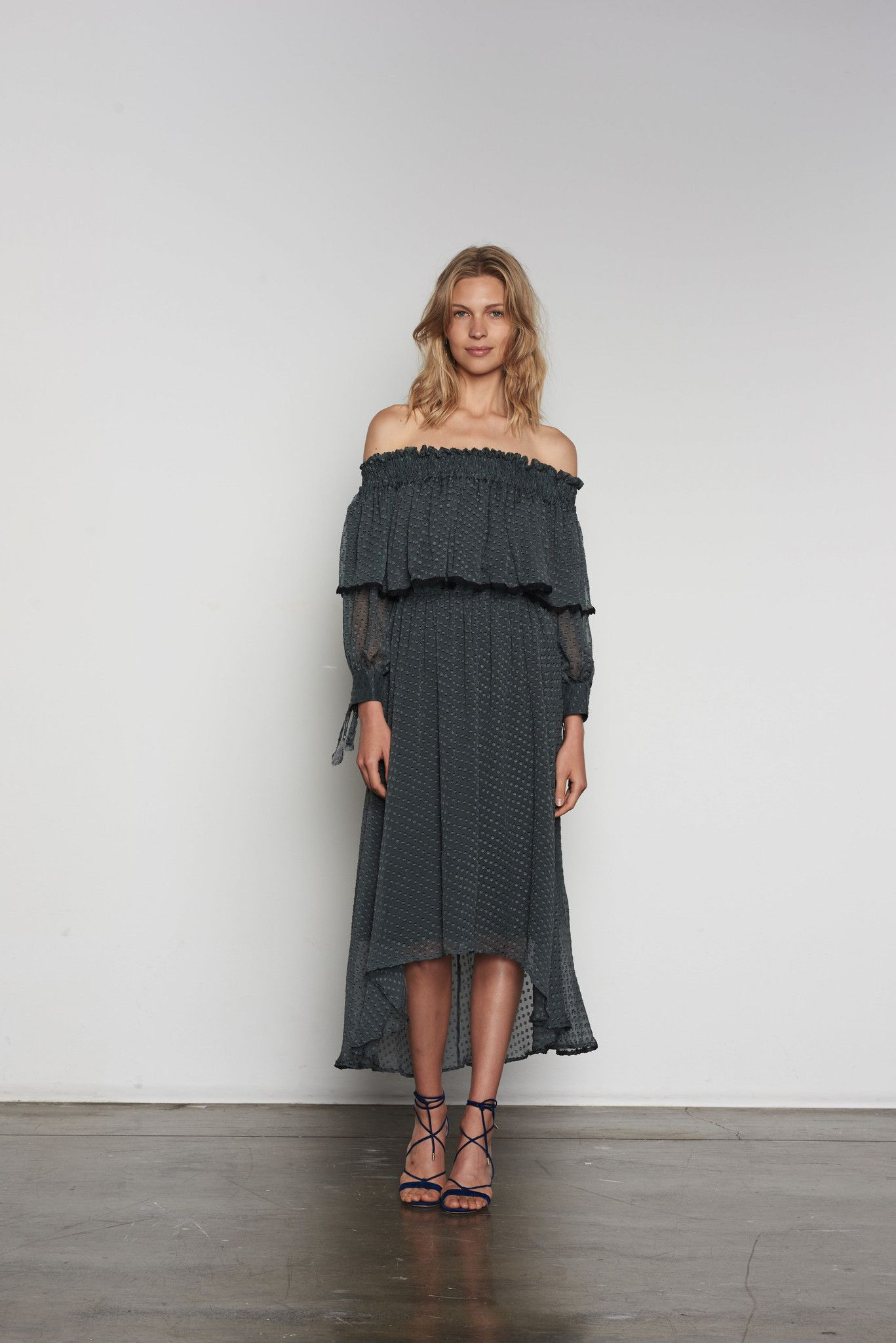 Stevie may ivy maxi dress in grey the latest and greatest new