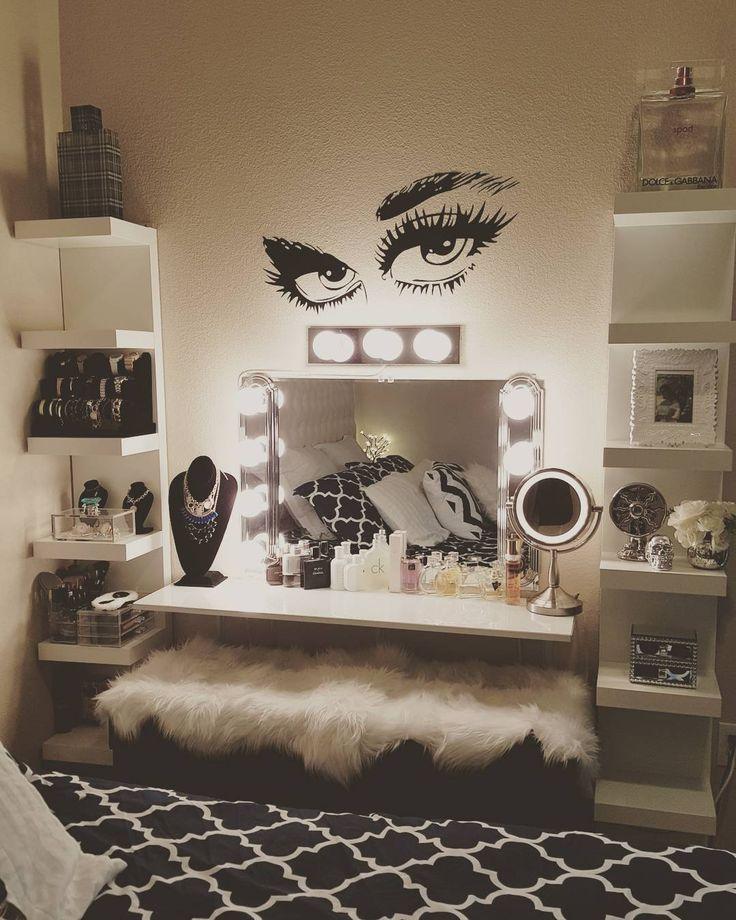 Super Cute Makeup Vanity Credit Unknown Glam Room Beauty Room Bedroom Decor